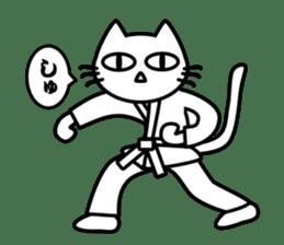 taekwon-do white cat and black cat sticker #4580320