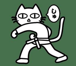 taekwon-do white cat and black cat sticker #4580321