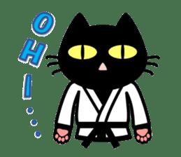 taekwon-do white cat and black cat sticker #4580322