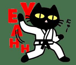 taekwon-do white cat and black cat sticker #4580332