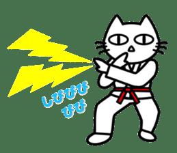 taekwon-do white cat and black cat sticker #4580345
