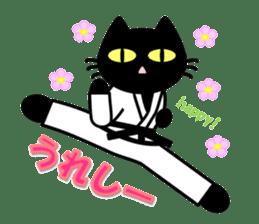 taekwon-do white cat and black cat sticker #4580349