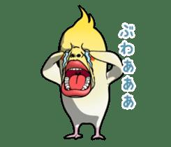 ugly cockatiel sticker sticker #4596787