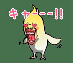 ugly cockatiel sticker sticker #4596789