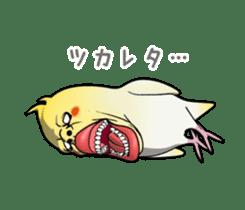 ugly cockatiel sticker sticker #4596792