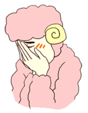 kawaii kawaii kawaii sheep sticker #4605881