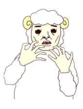 kawaii kawaii kawaii sheep sticker #4605883