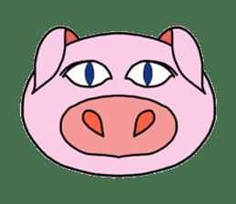 love pig sticker sticker #4608200