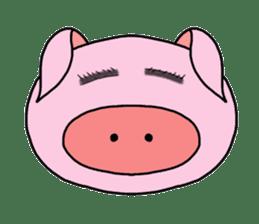 love pig sticker sticker #4608201