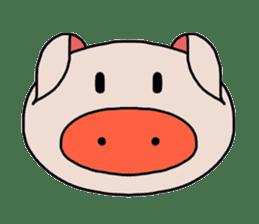 love pig sticker sticker #4608202