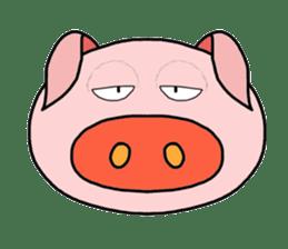 love pig sticker sticker #4608206