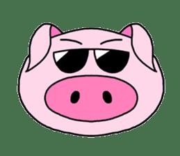 love pig sticker sticker #4608208