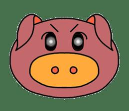 love pig sticker sticker #4608215