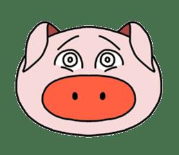 love pig sticker sticker #4608216