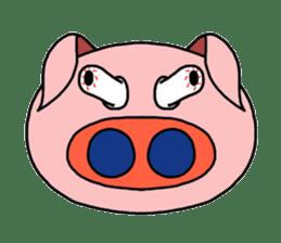 love pig sticker sticker #4608217