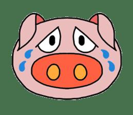 love pig sticker sticker #4608229
