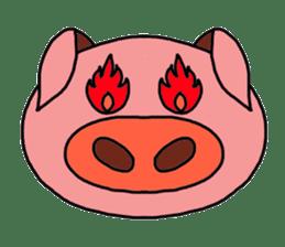 love pig sticker sticker #4608238