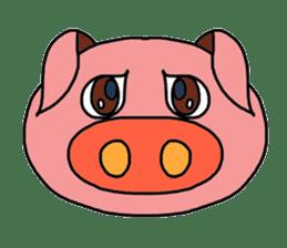 love pig sticker sticker #4608239