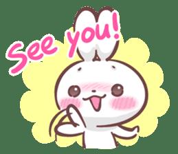 Kyun Kyun Bunny(English) sticker #4609251