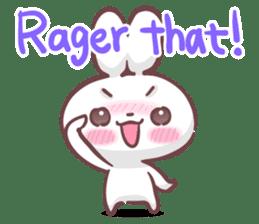 Kyun Kyun Bunny(English) sticker #4609254