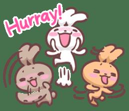 Kyun Kyun Bunny(English) sticker #4609261