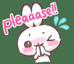 Kyun Kyun Bunny(English) sticker #4609266