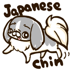 Japanese chin sticker 01