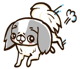 Japanese chin sticker 01 sticker #4617965