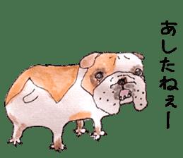 Friend of the bulldog sticker #4618759