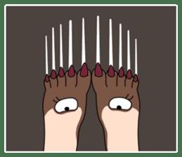 Queen's legs sticker #4619691