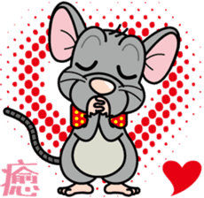 Cute mouse sticker #4620540