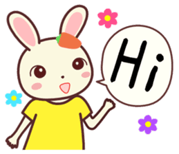 Usagikochan 3  (English) sticker #4631168