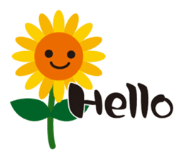 Sunflower field ( English ver. ) sticker #4644409