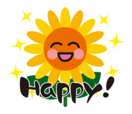 Sunflower field ( English ver. ) sticker #4644413