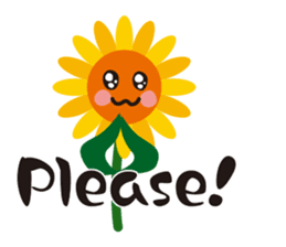 Sunflower field ( English ver. ) sticker #4644417