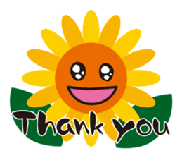 Sunflower field ( English ver. ) sticker #4644418