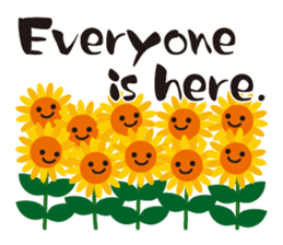 Sunflower field ( English ver. ) sticker #4644431