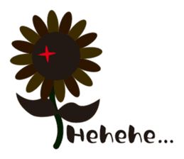 Sunflower field ( English ver. ) sticker #4644438