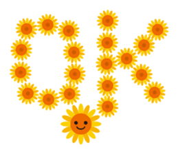 Sunflower field ( English ver. ) sticker #4644444