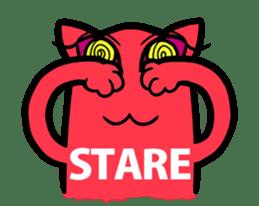 Strange Cat HEN-NYA sticker #4645372