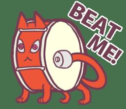Strange Cat HEN-NYA sticker #4645376