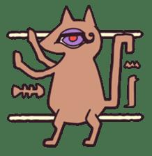 Strange Cat HEN-NYA sticker #4645392