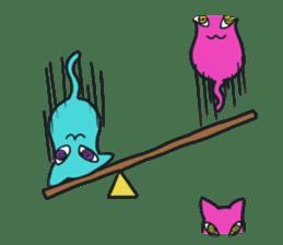 Strange Cat HEN-NYA sticker #4645400