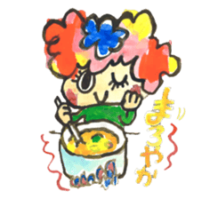 Gemogemo Sticker Tomoko Kouda GAHAKU sticker #4653408