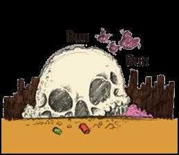 skull ice sticker #4656048