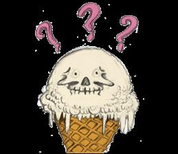 skull ice sticker #4656052