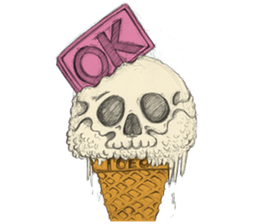 skull ice sticker #4656054