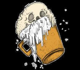 skull ice sticker #4656061