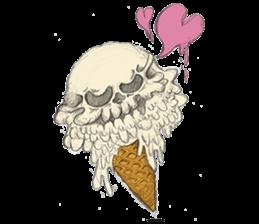 skull ice sticker #4656064