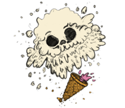 skull ice sticker #4656066